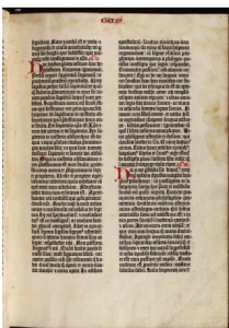 Gutenberg Bible  Comparisons