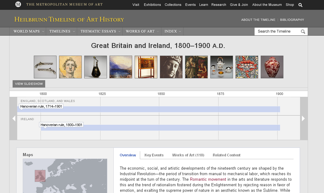 Ireland Art History Art History Timeline Britiain