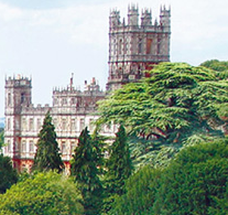 the location for the Real Downton Abbey Berkshire England UK