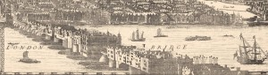 Glimpse of Morgans Map 1682 a work of Art segment shows London Bridge
