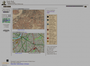 LSE&#039;s web resource compares Booth Map with 2000 modern map