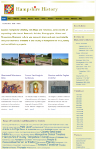 new online interactive Hampshire history project
