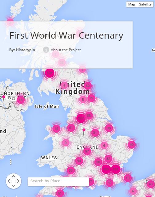 History Pin WWI Hub